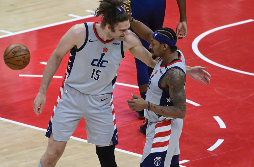 Wizards forward Robin Lopez and guard Bradley Beal. (Tommy Gilligan-USA TODAY Sports)
