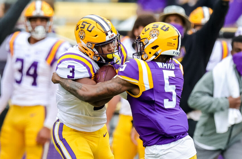 LSU running back. (Stephen Lew-USA TODAY Sports)