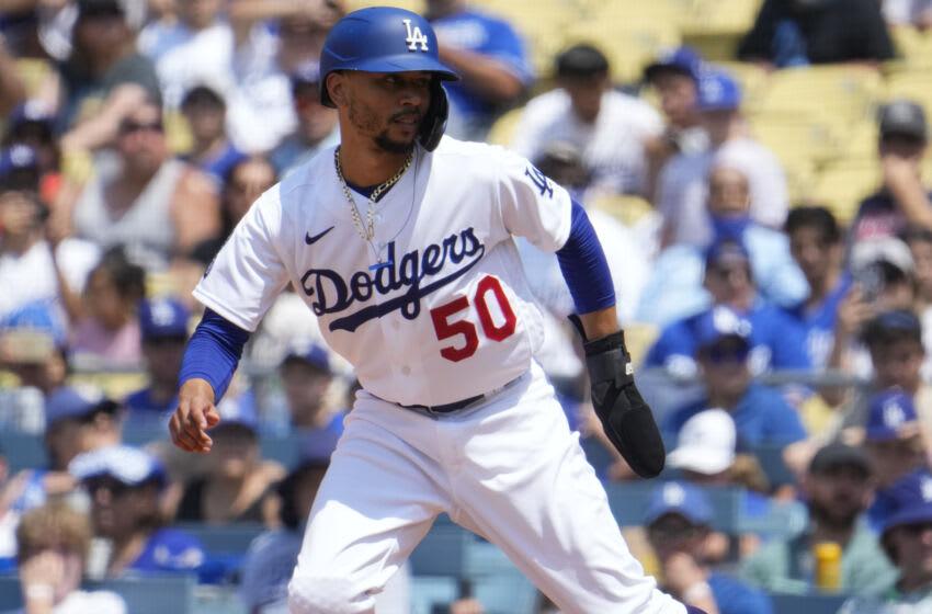 Dodgers outfielder Mookie Betts. (Robert Hanashiro-USA TODAY Sports)
