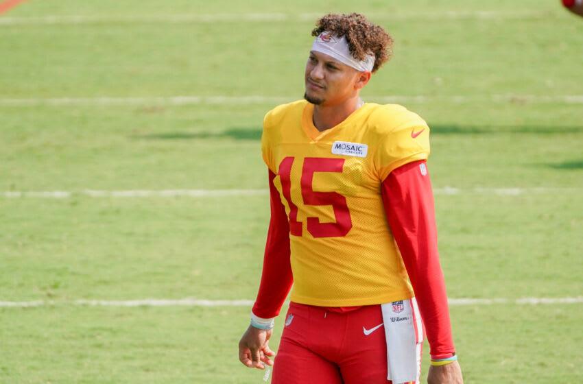 Patrick Mahomes, Kansas City Chiefs.  (Mandatory credit: Denny Medley-USA TODAY Sports)