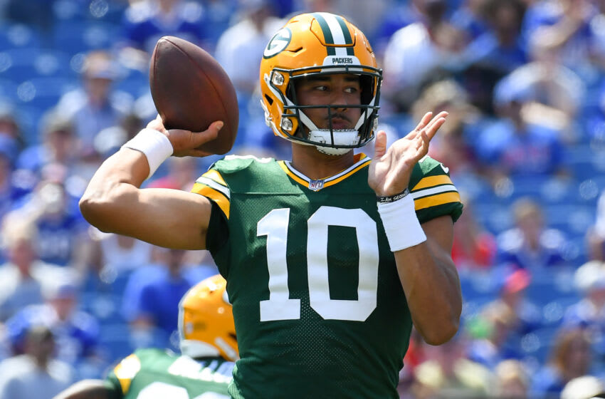Packers quarterback Jordan Love.  (Rich Barnes-USA TODAY Sports)