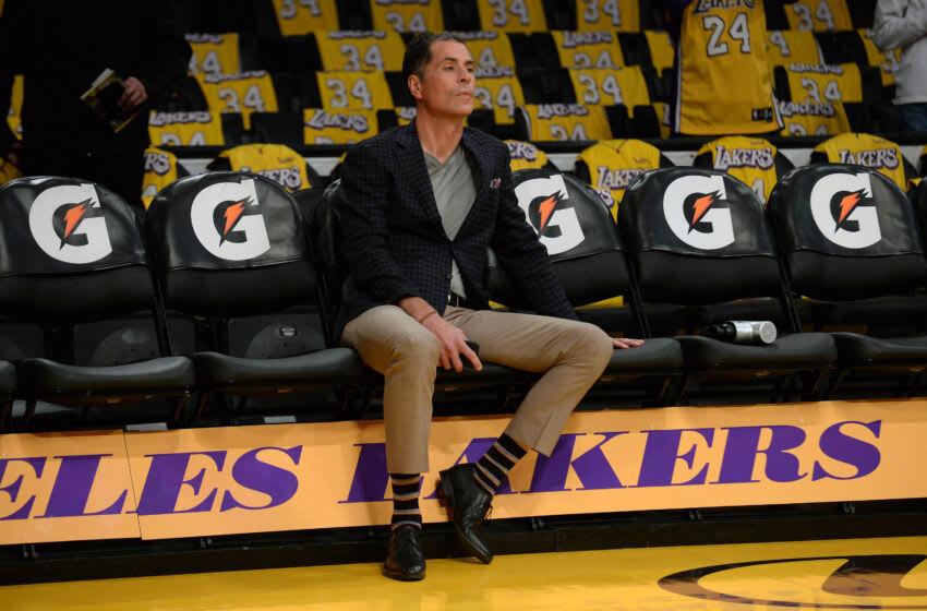 Rob Pelinka, Los Angeles Lakers, vaccination rate Mandatory Credit: Gary A. Vasquez-USA TODAY Sports