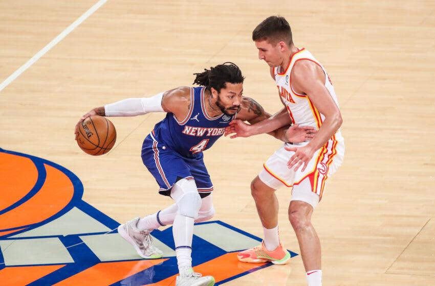 New York Knicks guard Derrick Rose Mandatory Credit: Wendell Cruz-USA TODAY Sports
