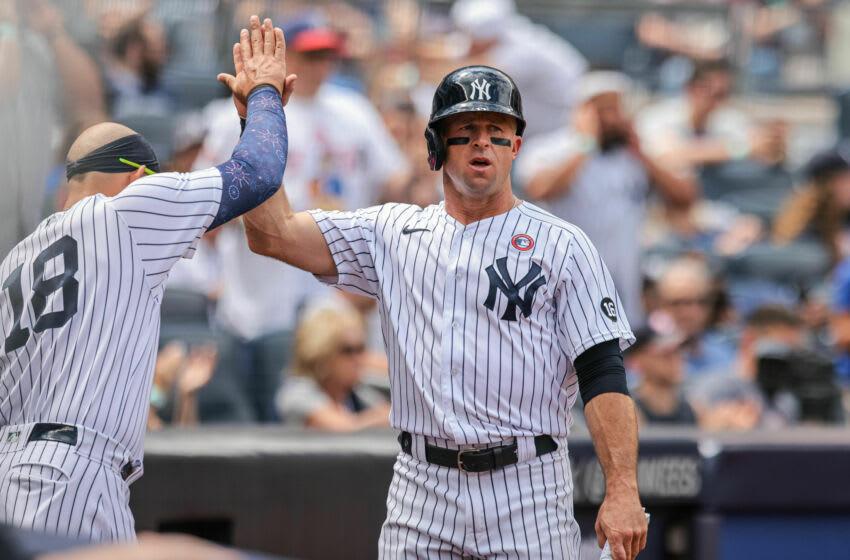 New York Yankees left fielder Brett Gardner. (Vincent Carchietta-USA TODAY Sports)