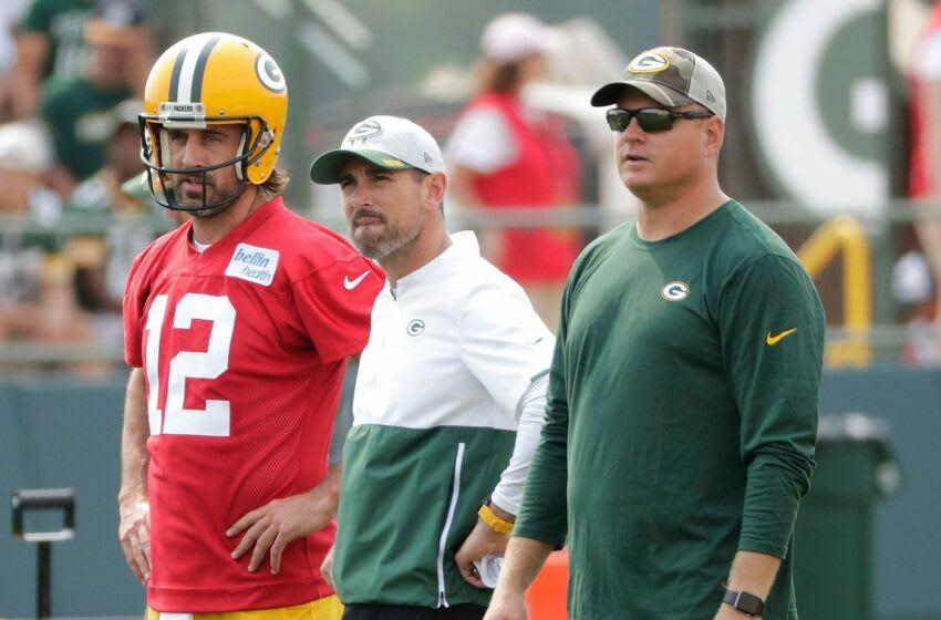 Packers quarterback Aaron Rodgers, head coach Matt LaFleur. (Syndication: USA TODAY)