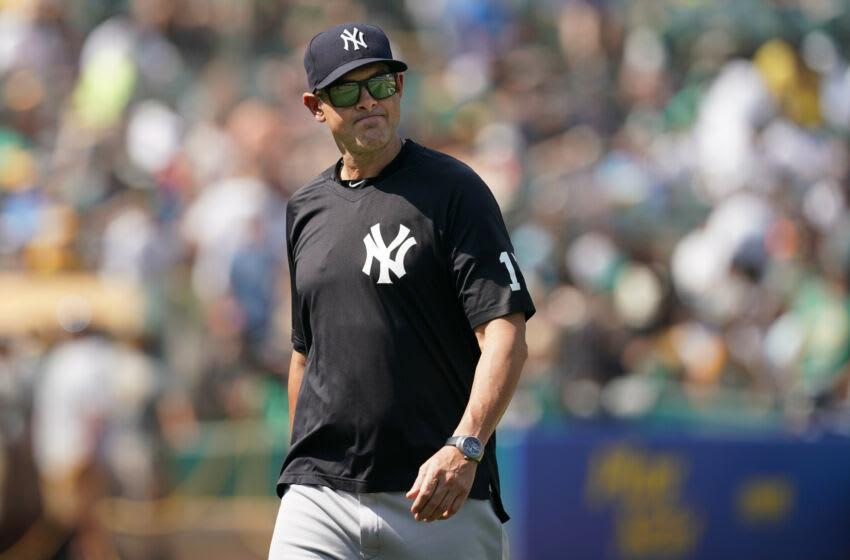 New York Yankees manager Aaron Boone. (Darren Yamashita-USA TODAY Sports)