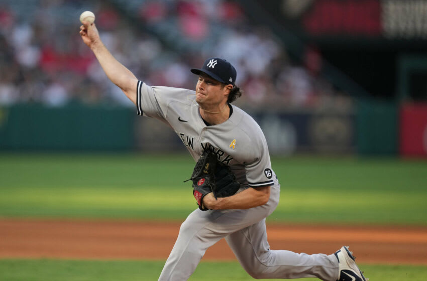 Yankees starting pitcher Gerrit Cole is back on top of AL Cy Young power rankings. (Kirby Lee-USA TODAY Sports)