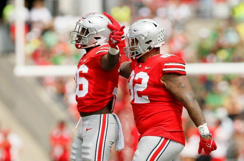 Haskell Garrett, K'Vaughn Pope, Ohio State Buckeyes. (USA Today)