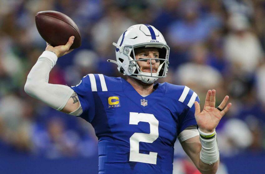 Indianapolis Colts quarterback Carson Wentz. (Syndication: The Indianapolis Star)