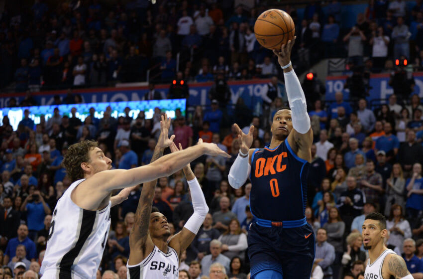 Russell Westbrook, Pau Gasol, Los Angeles Lakers Mandatory Credit: Mark D. Smith-USA TODAY Sports