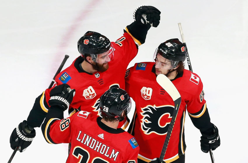 EDMONTON, ALBERTA - AUGUST 20: Calgary Flames (Photo by Jeff Vinnick/Getty Images)