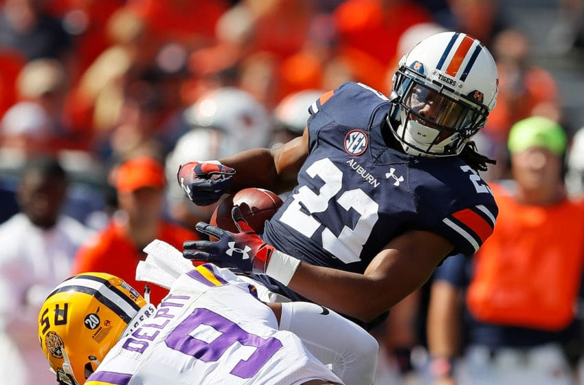 Auburn's offense was not at its best Saturday. Here, Ryan Davis drops a pass. (Photo by Kevin C. Cox/Getty Images)