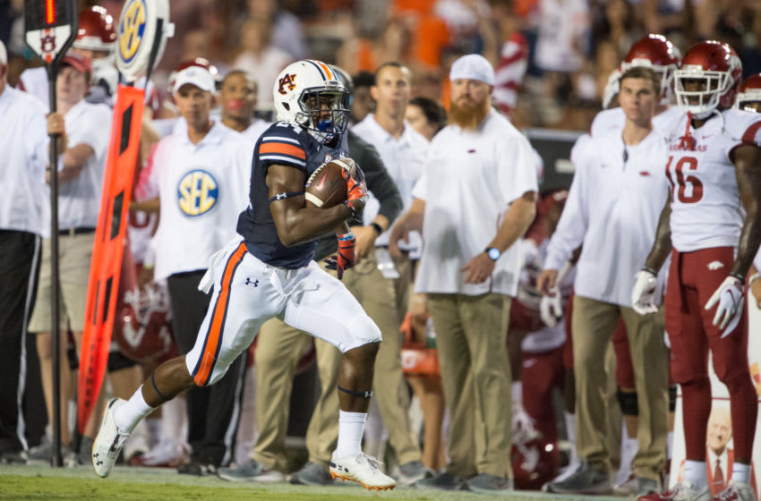 Daniel Thomas is being opportunistic on defense and it's paying off for Auburn. (Photo by Michael Chang/Getty Images)