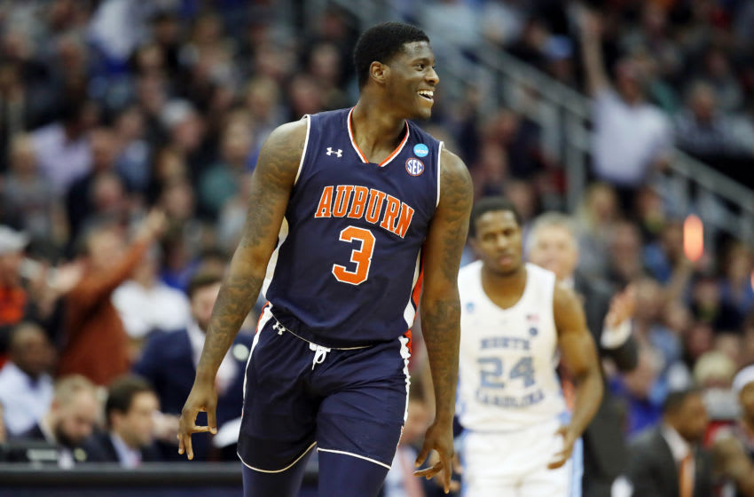 KANSAS CITY, MISSOURI - MARCH 29: Danjel Purifoy #3 of the Auburn Tigers celebrates against the North Carolina Tar Heels during the 2019 NCAA Basketball Tournament Midwest Regional at Sprint Center on March 29, 2019 in Kansas City, Missouri. (Photo by Christian Petersen/Getty Images)