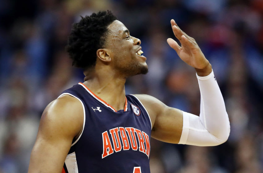 KANSAS CITY, MISSOURI - MARCH 29: Malik Dunbar #4 of the Auburn Tigers reacts against the North Carolina Tar Heels during the 2019 NCAA Basketball Tournament Midwest Regional at Sprint Center on March 29, 2019 in Kansas City, Missouri. (Photo by Christian Petersen/Getty Images)