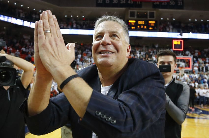 AUBURN, AL - FEBRUARY 01: Head coach Bruce Pearl of the Auburn Tigers reacts the conclusion of the game against the Kentucky Wildcats at Auburn Arena on February 1, 2020 in Auburn, Alabama. (Photo by Todd Kirkland/Getty Images)