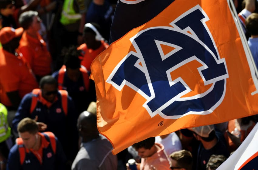 CLEMSON, SC - SEPTEMBER 09: Auburn Tigers football players enter Memorial Stadium prior to the Tigers' game against the Clemson Tigers on September 9, 2017 in Clemson, South Carolina. (Photo by Mike Comer/Getty Images)