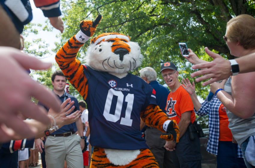 Mascot Aubie of the Auburn Tigers (Photo by Michael Chang/Getty Images)