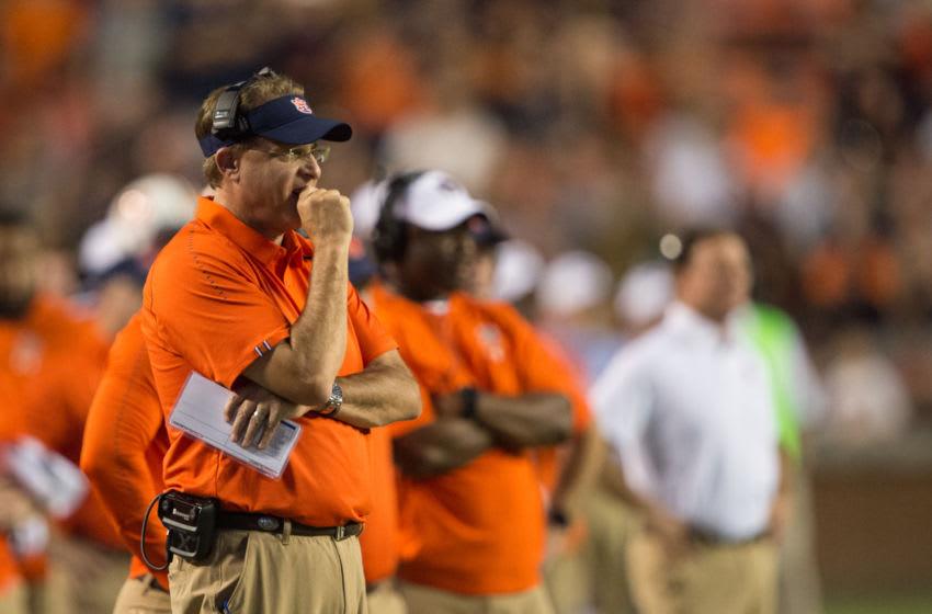 Head coach Gus Malzahn of the Auburn Tigers (Photo by Michael Chang/Getty Images)