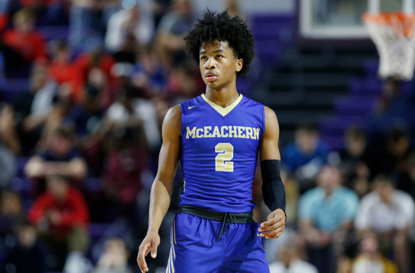 Sharife Cooper #2 of McEachern High School (Photo by Michael Reaves/Getty Images)
