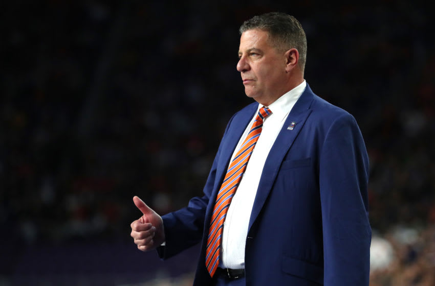 Head coach Bruce Pearl of the Auburn Tigers (Photo by Tom Pennington/Getty Images)
