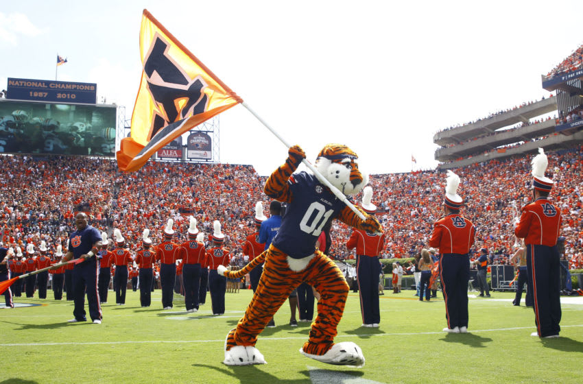 Auburn mascot Aubie the Tiger (Photo by Mike Zarrilli/Getty Images)