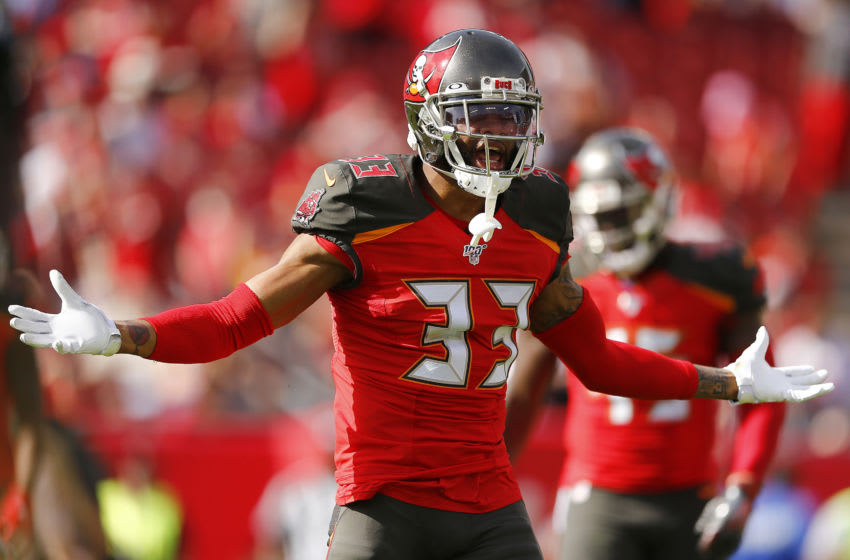 Carlton Davis #33 of the Tampa Bay Buccaneers (Photo by Michael Reaves/Getty Images)