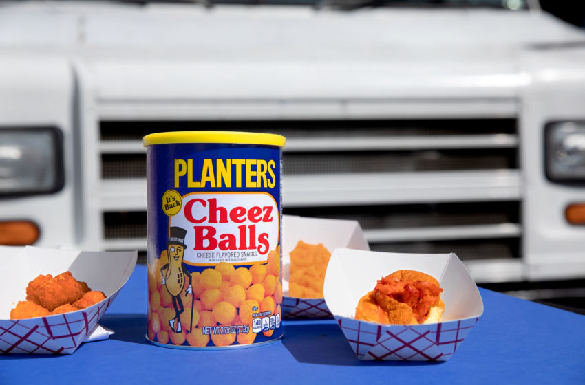 Cheez Ball flavored dishes, photo provided by Planters