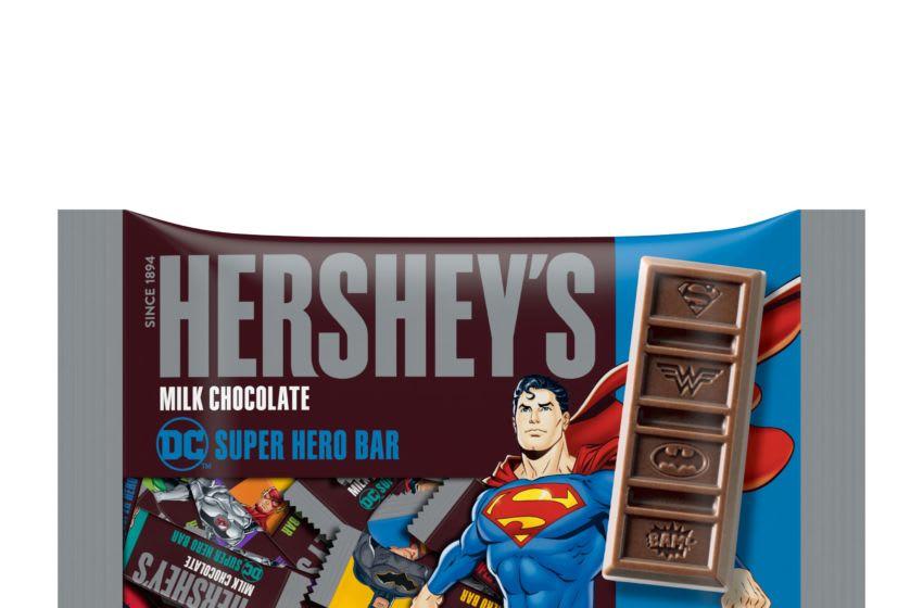 Hershey's DC Super Hero Bars, photo provided by Hershey's