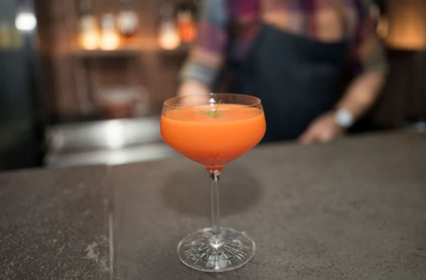 Savory veggie cocktails, photo provided by Bombay Sapphire Gin