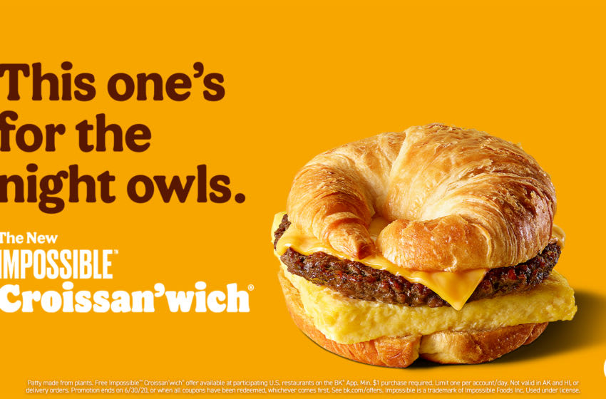 Burger King adds Impossible Croissan'wich, photo provided by Burger King