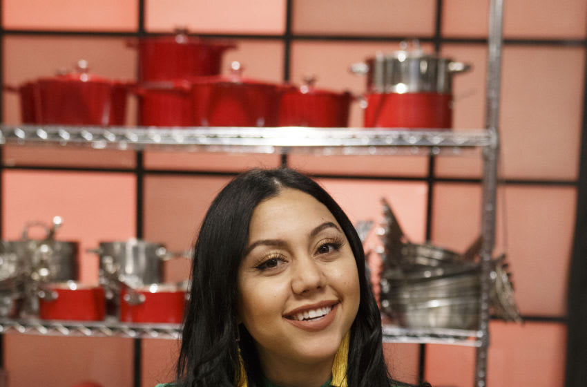 Recruit Louisa Sharamatyan poses, as seen on Worst Cooks in America, Season 20. Courtesy Food Network