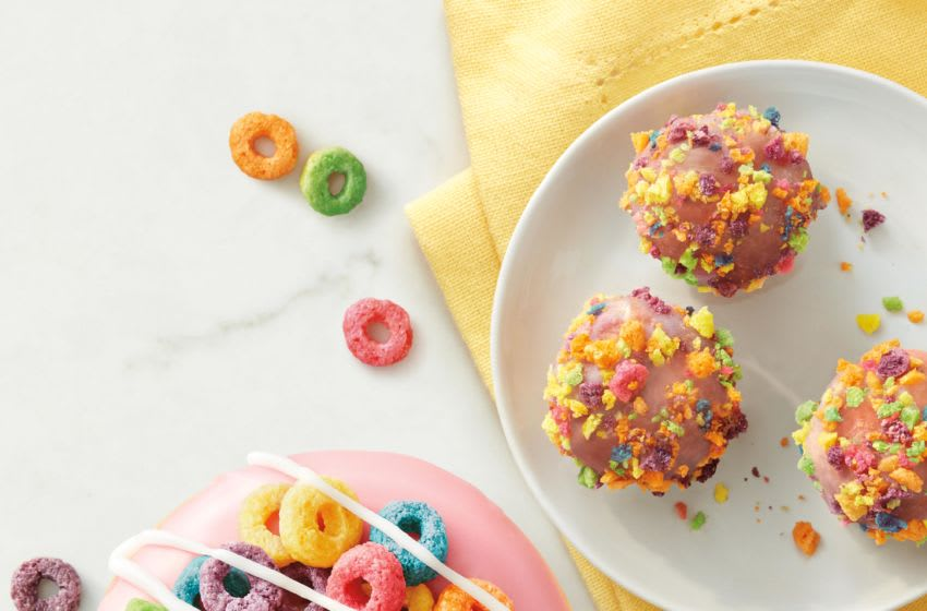 New Tim Hortons Froot Loops Donut, photo provided by Tim Hortons
