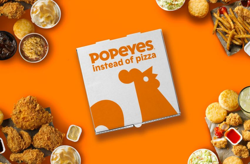 Popeyes asks will you trade for pizza? photo provided by Popeyes