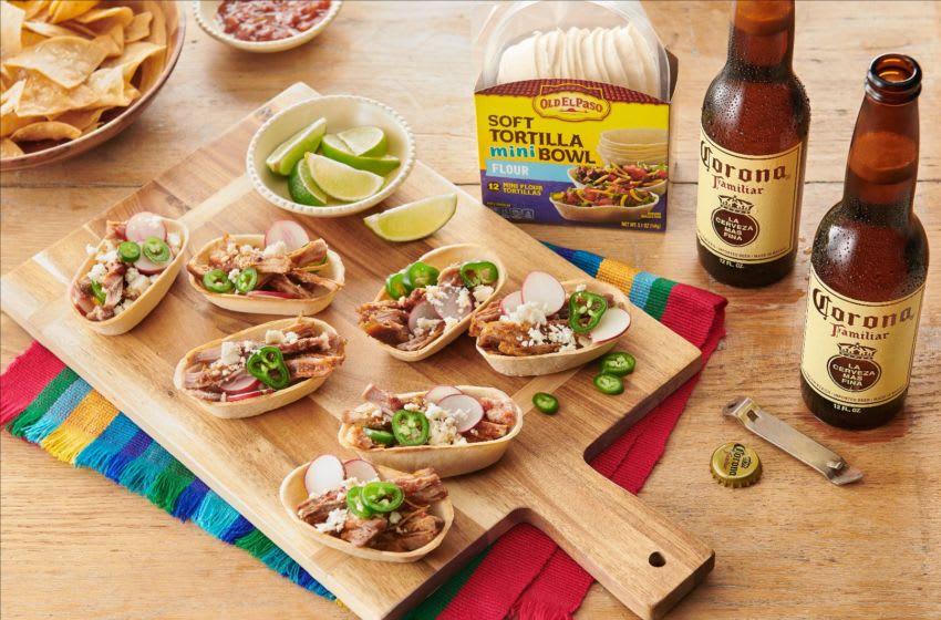 Corona Chicken Taco Bowls, photo provided by Corona