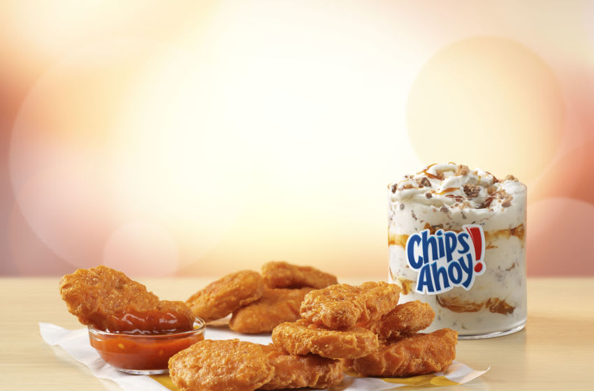 Spicy McNuggets and Chips Ahoy McFlurry. Image Courtesy McDonald's