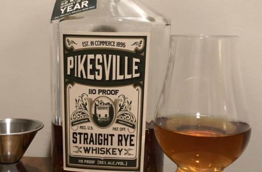 Pikesville Rye in a Glencairn Glass, photo by Sean Kinslow