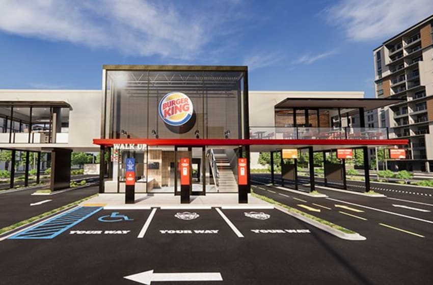 New Burger King Restaurant concept, photo provided by Burger King