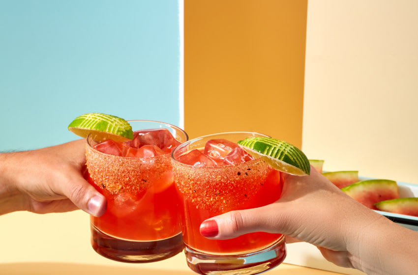 Grilled Watermelon Margarita, photo provided by Cointreau