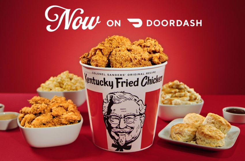 KFC partners with DoorDash, photo provided by KFC