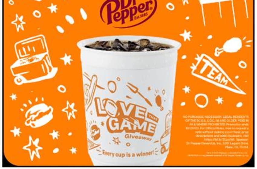 "Popeyes and Dr Pepper ""Love That Game"" giveaway, photo provided by Popeyes"