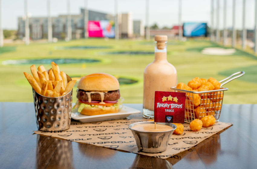 Angry Birds Sauce debuts at Topgolf, photo provided by Topgolf