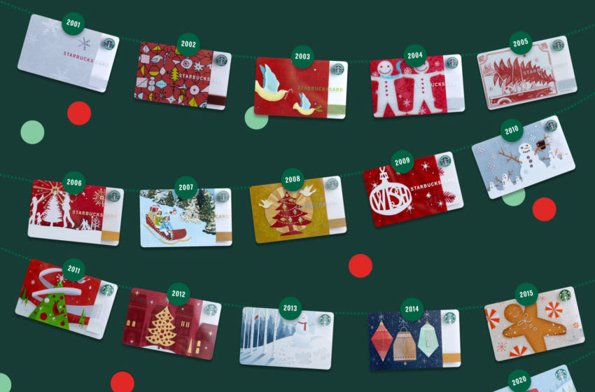 Starbucks Gift Cards for the holidays, photo provided by Starbucks