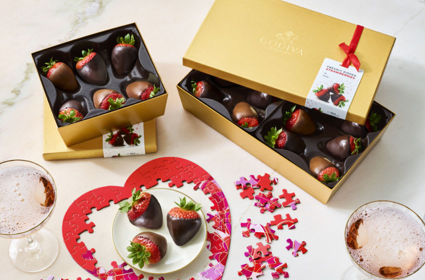 Godiva Valentine's candy offerings, photo provided by Godiva