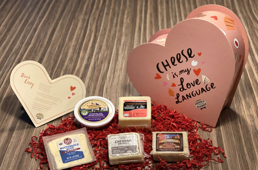 For the Love of Cheese, Wisconsin Cheese Valentine's Day promo photo provided by Wisconsin Cheese