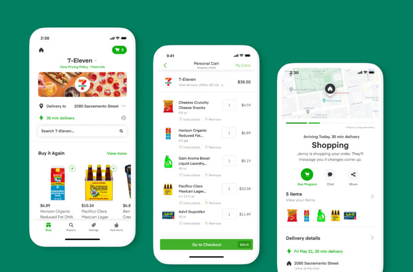 7-Eleven is now available on Instacart, photo provided by Instacart