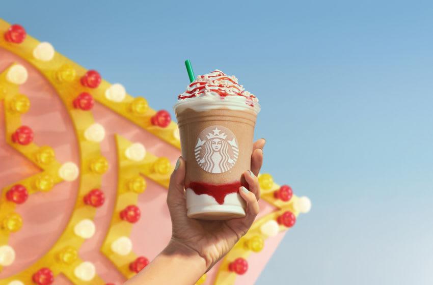 Starbucks Strawberry Funnel Cake Frappuccino, photo provided by Starbucks
