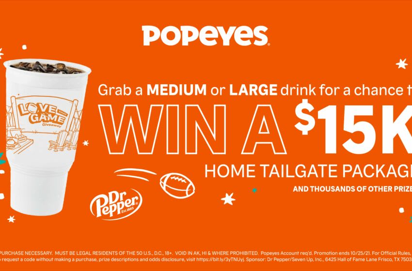 Popeyes and Dr Pepper reveal the ultimate tailgating experience, exclusive, photo by Popeyes