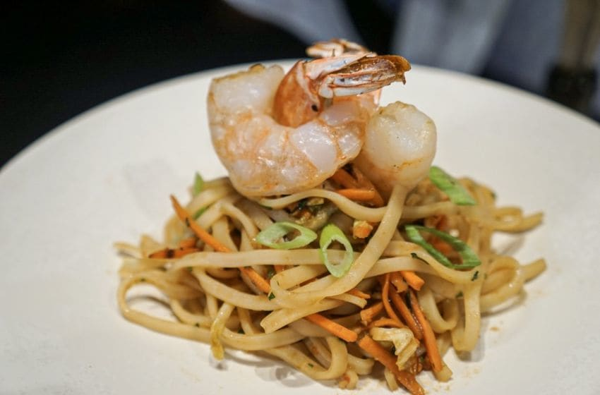 Epcot Food and Wine Festival 2019 preview, Shrimp and Cold Noodle Salad from Thailand Marketplace, photo by Cristine Struble