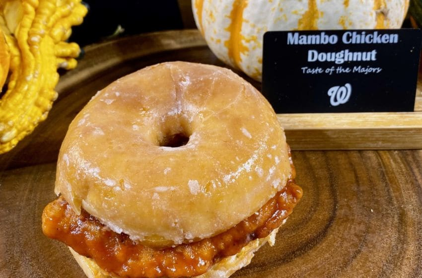 Mambo Chicken Donut (Change Up Chicken) at Nationals Park photo provided by Levy Restaurants